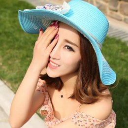 novelty flower hat NZ - 2019 new hot comfortable summer women's sunscreen sunshade dome travel lady straw hat straw flower beach hat factory direct sales