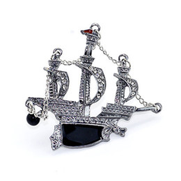 $enCountryForm.capitalKeyWord Australia - New Personality Fashion Sail Brooch Unisex Drop Oil Diamond Brooch Clothing Brooch Jewelry Good-Looking Style Wholesale