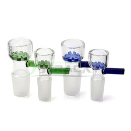 Filter bowl For water bong online shopping - DHL Shipping mm mm Glass Bowl With Blue Green Snowflake Filter Male Smoking Glass Bowls Piece for Tobacco Glass Water Bongs Dab Rigs