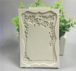Eco Frame Photo Australia - Vintage Silicone Photo Frame Vine Leaf Cake Fondant Mold Chocolate Cake Fringe Decor Mould Home Kitchen Baking Tools Bakeware