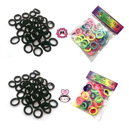 Indian Hair Rubber Bands Australia - Child Color High Elasticity Nylon Hair Ring Baby Hair Rubber Band A Pack of 25