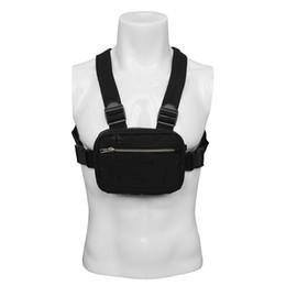 Ingrosso Uomini Chest Pack Rig Hip Hop Streetwear Unisex Fresco Funzionale Tactical Shoulder Anti Theft Marsupio Borsa Punck Style Zaino