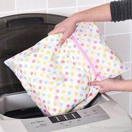 cleaning washing machines Canada - Bra Print Washing Care Laundry Bags 40*50CM Clothes Wash Bag Washing Machine Underwear Underpants Washing Bag Mesh Bag BC BH0962-1