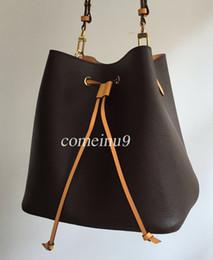 Genuine Leather Bag Design Australia - 2019 women's Fashion Bucket Bag High Quality Genuine Leather Shoulder Bag Classic Design Crossbody Bags Lady Handbags more colors