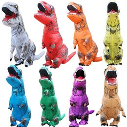alien suit UK - Adult Kids Inflatable Dinosaur Costume Women Men Costumes dinosaur Alien Halloween Party Fancy Dress suit Carnival Cosplay A-852