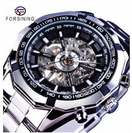 $enCountryForm.capitalKeyWord Australia - 2019 Silver Stainless Steel Waterproof Mens Skeleton Watches Top Transparent Mechanical Male Wrist Watch Water Resistant