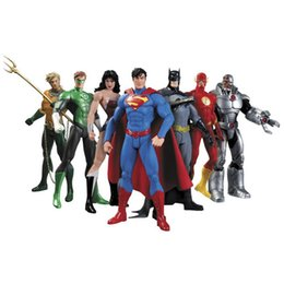 $enCountryForm.capitalKeyWord UK - Hot New 7pcs set 17cm Justice League Super Hero Avengers Ant-man Spider-man Superman Batman Action Figure Toys Doll