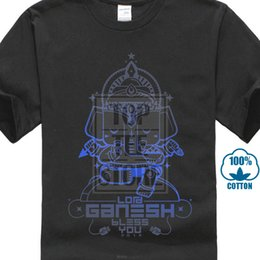 $enCountryForm.capitalKeyWord Australia - Awesome Lord Ganesh Bless You Black Tee Shirts Men Short Sleeve Casual T Shirt Elephant God Print 3xl The New