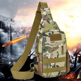 tactical bag single 2019 - Outdoor With USB Interface Smart Men Shoulder Bag 30X16cm Messenger Bag Tactical Camouflage Chest Sports cheap tactical