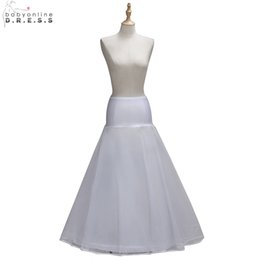 Hoop petticoats underskirts online shopping - One Layer Tulle A Line Petticoats Hoop Bridal Underskirts Wedding Accessories White Petticoat jupon