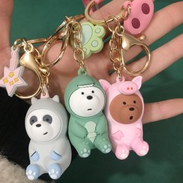 $enCountryForm.capitalKeyWord Australia - LISTE&LUKE We bare bears lovely doll keychain figures toy Grizzly Panda Icebear cosplay key ring pendant accessories kids Gift