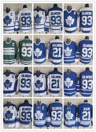 $enCountryForm.capitalKeyWord Australia - Top Quality Men Toronto Maple Leafs 21 Borje Salming White CCM Vintage Jersey 93 Doug Gilmour Blue 75th Ice Hockey Jersey