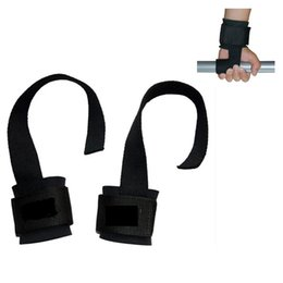 Train Hooks Australia - 2Pcs Weightlifting Wrist Support Wristband Band Pull Hooks Weight Lifting Gloves Gym Fitness Training Straps Glove Support P15
