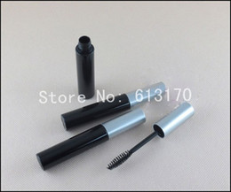 revitalash wholesale NZ - New arrival 30 lot 10ml Portable empty mascara cream tubes Black revitalash Eyelash Bottles silver lid for women free shipping