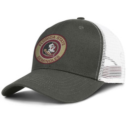 Chinese  Fashion Mesh Trucker hats Men Women-Florida State Seminoles Round Logo designer cap snapback Adjustable Golf hat Outdoor manufacturers