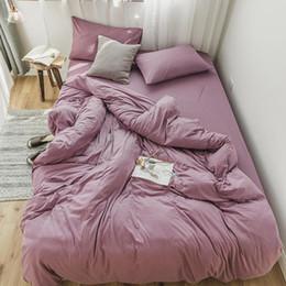 Purple Brown Bedding Australia - Twin Queen King size Pink Grey Bedding Set Kids Bed set Cotton Bed sheet Duvet Cover Fitted sheet parure de lit couvre lit de