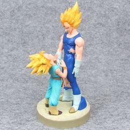 $enCountryForm.capitalKeyWord Australia - Dragon Ball Hero series Super Saiyan Vegeta father and son pvc boxed hand model ornaments