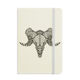 animal mini notepads NZ - Long horns Antelope Animal Portrait Sketch Notebook Fabric Hard Cover Classic Journal Diary A5
