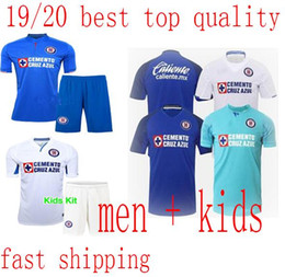 Panting kit online shopping - 19 Cruz Azul Kid Kits CAUTE CARAGLIO Child Soccer Short MONTOYA HERNANDEZ RENTERIA Boys Football Shirts Pants