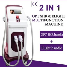 skin pigmentation treatment 2019 - Two handle shr laser skin rejuvenation laser hair removal machine pigmentation ipl vascular acne removal machine cheap s