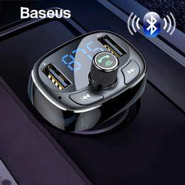 Audio Rock Australia - Baseus Fm Transmitter Aux Modulator Bluetooth Handsfree Car Audio Mp3 Player 3.4a Fast Dual Usb Mobile Phone Charger J190427
