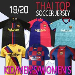 Cheap Clubbing tops online shopping - 19 Barca jerseys THAI TOP Futbol Club Messi Iniesta Tailandia soccer shirt Suárez Coutinho Football uniforms shirts cheap