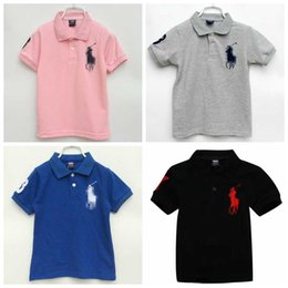 2020 nuevas camisetas de los niños al por mayor de la muchacha del muchacho de ocio polo de los niños de manga corta camiseta los niños camisetas de 13 colores del envío libre en venta