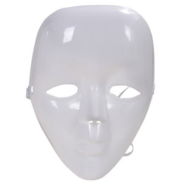 Discount female costume face mask - Plastic Blank White Full Face Female Mask for Costume Party Prom