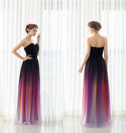 6d1cdbd060 Nuevo Elie Saab vestidos de fiesta de noche Cinturón sin respaldo Gradiente  de color Negro Gasa Ocasión formal Vestidos de fiesta Fotos reales más  tamaño ...