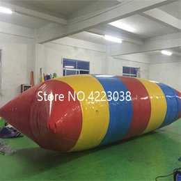 Jumping Games Australia - Free Shipping 5*2m Hot Sale Water Blob Jump Pillow Inflatable Water Game Toy 0.9mm PVC Inflatable Blobs for Sale