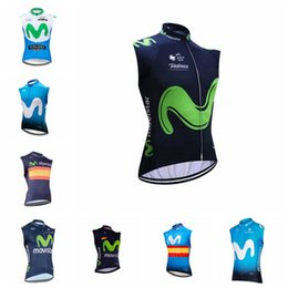 5449a345f MOVISTAR team Cycling Sleeveless jersey Vest 2019 Bike Clothing Suits Quick  Dry Front Zipper Wearable Breathable 012213F