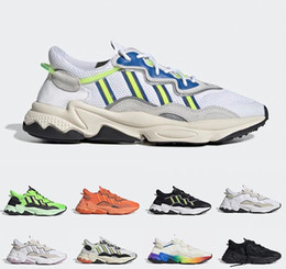 spring plastic 2019 - 2019 Pride 3M Reflective Xeno Ozweego For Men Women Casual Shoes Neon Green Solar Yellow Halloween Tones Core Black Trai