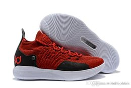 ef9438f01fc Red Kd Shoes Mens Australia - 2018 KD 11 Mens Basketball Shoes Black Grey  Persian Violet