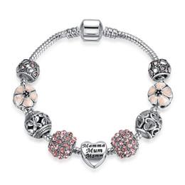 $enCountryForm.capitalKeyWord Australia - Romantic Love DIY Charm Bracelet Heart Shaped Silver Plated Crystal Pandora Bracelet Women Jewelry Valentine's Day Gift