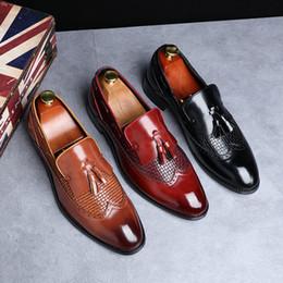 $enCountryForm.capitalKeyWord Australia - Size 37-48 Hot Sell New Fashion Men Tassel Loafers Genuine Leather Formal Shoes Dress Shoe Simple Slip On Man Casual Footwear