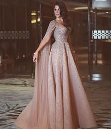 $enCountryForm.capitalKeyWord Australia - High-end Elegant Champagne Heavy Manual Shawl Prom Dresses European And American Long Red Carpet Evening Party Dresses DH002