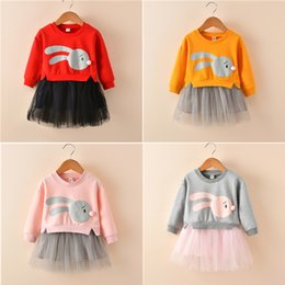 $enCountryForm.capitalKeyWord Australia - 4 colors Rabbit Cartoon Tulle Dress Spring Autumn Baby girls dresses kids designer clothes girls kids clothes DHL JY09