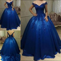 f528985724 Off Shoulder Straps Quinceanera Dress Australia - Elegant Princess Ball Gown  Prom Party Dresses Sweep Train
