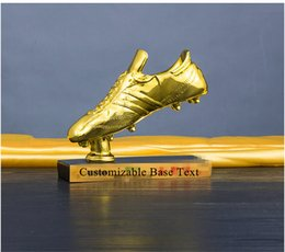 74312b61772 Champions Shoes NZ - Soccer Golden Shoe Boot Trophy The Golden Football  Boot Award Gift Champions