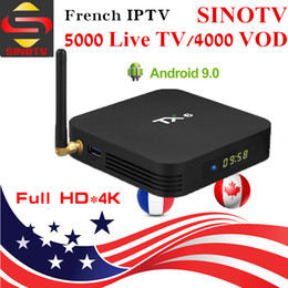 Media Player Australia - IPTV box TX6 Android9.0 Smart TV Box H6 Quad Core 4K TV Boxes Support 5G WIFI BT Media Player Best Sell 2019
