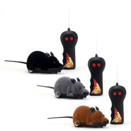 cats controller Australia - Funny RC Animals Wireless Remote Control RC Electronic Rat Mouse Mice Toy For Cat Puppy Kids Toy Gifts
