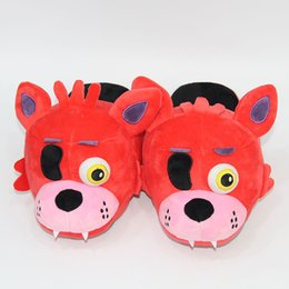 plush slippers for adults Australia - FNAF Five Nights At Freddy's Slippers Freddy Foxy Plush Indoor Slippers For Adults Women Men Winter Home Slippers SA1657MX190925
