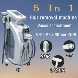 ipl spot Australia - OPT SHR + RF + Nd Yag Laser Beauty Machine Tattoo skin Spot Removal OPT SHR Hair Removal EKIGHT Veins Removal RF Ipl Equipment