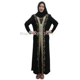 55019135a2 Islamic Dress Women Middle East Long Robe Gowns Dubai Abaya Hijab Arab  Worship Prayer Garment Kaftan Muslim