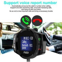 new transmitter 2019 - 2019 New Style English Car Wireless Bluetooth FM Transmitter MP3 Music Player USB Charger Hands-free Kit LED Display che