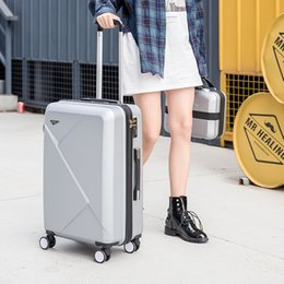 Scratch Resistant Coating Australia - Luggage set Fashion Spinner carry on luggage With password suitcases and travel bag Scratch resistant coating wearproof suitcase