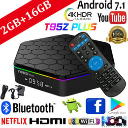 Wholesale 2 GB 16 GB T95Z Plus Smart-TV-Box Amlogic S912 Octa Core Android 7.1 TV-BOX 2,4 G / 5 GHz WiFi BT4.0 4K