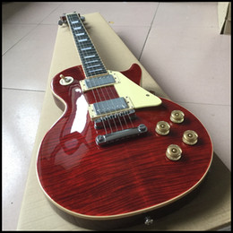 $enCountryForm.capitalKeyWord Australia - Free shipping! Wholesale red color electric guitar with cream binding , frets end binding , one piece body and one piece neck guitar 0610