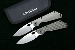 Washer titanium online shopping - LOVOCOO SMG Folding Knife D2 blade Titanium Nudist Pits CF handle Copper washer kitchen outdoors hunting utility Knives EDC Tools