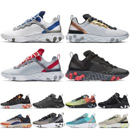 Nike react element 87 SHIFT Stability Running Shoes negro blanco atlético exterior Deportes Jogging zapatos entrenador zapatillas mujeres zapato envío gratis on Sale